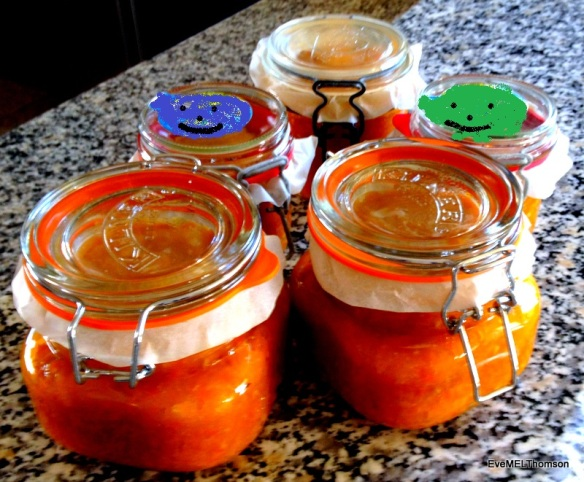 Marmalade in Kilner Jars