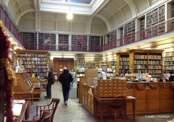 Old Literary and Philosophical Society Library, Newcastle.  Over 160,000 books