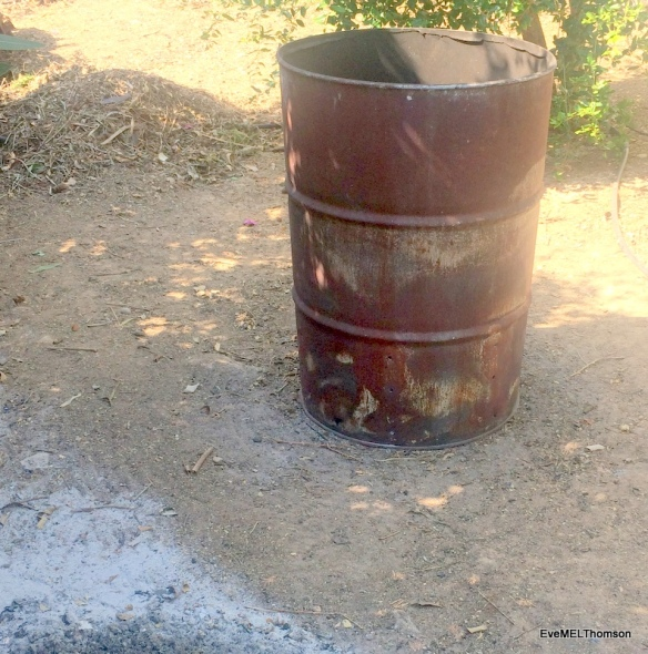 Oil drum, well used